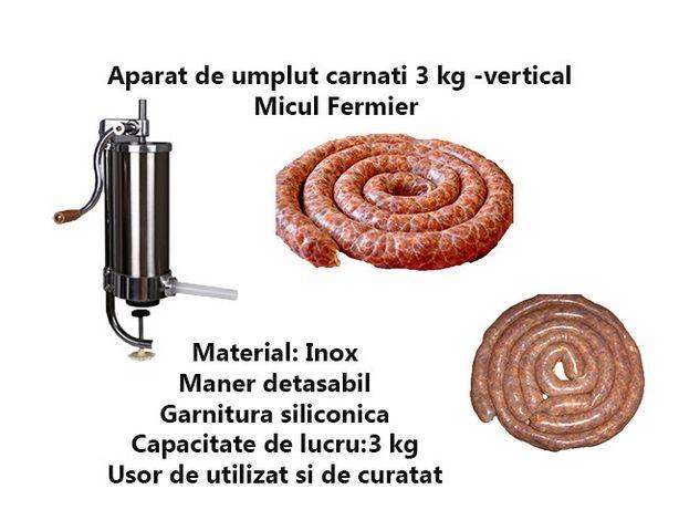 Carnatar Masina Aparat Manual Umplut Facut Carnati 3 kg Vertical Nou