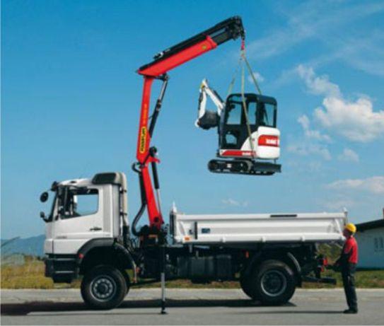 105лв. Услуги с Камион-4-тона с КРАН-2-тона товаро подемност