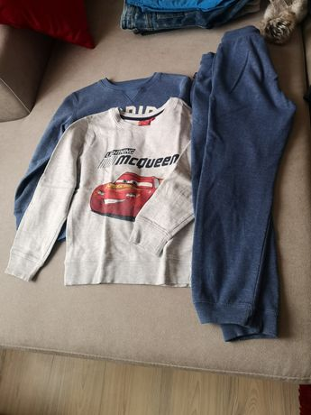 Lot, bluze, pantaloni trening copii 7ani,122-128,bumbac