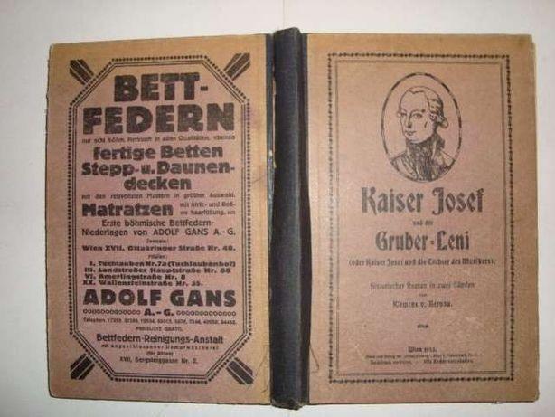 "Carte veche in germană,,Kaiser Josef"""
