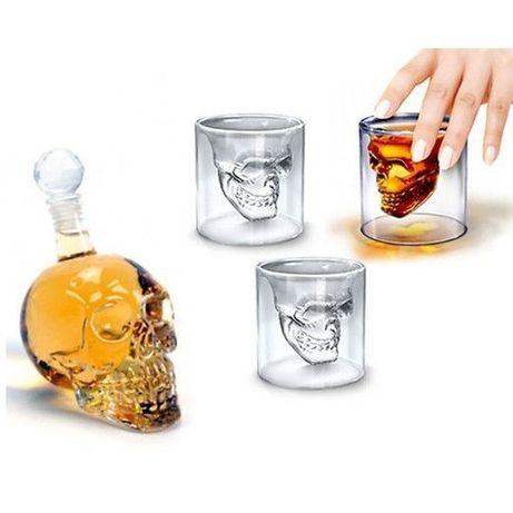 Комплект Бутилка + 2 Чаши Череп