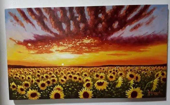 """Tablou """"Floarea soarelui"""" - 35x60 cm"""