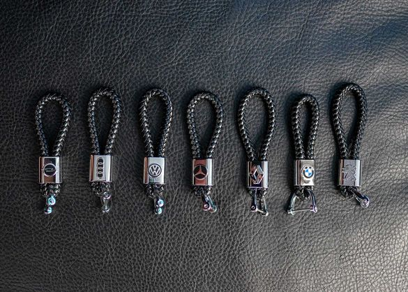 Кожен ключодържател за Vw Audi Bmw Mercedes Peugeot Renault Opel