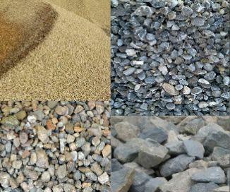 Balast,nisip,sort,piatra concasata,pământ vegetal,umplutura,beton conc