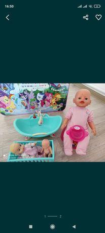 Кукла бейби борн и ванночка
