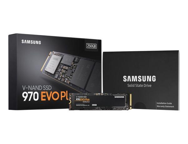 SSD накопитель 250 Gb Samsung 970 EVO Plus, M.2, PCIe 3.0