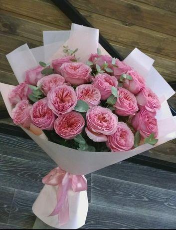 Доставка цветов букетов роз
