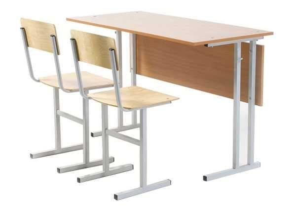 школьный мебель Парта школьная 2-х местная и 2 стула