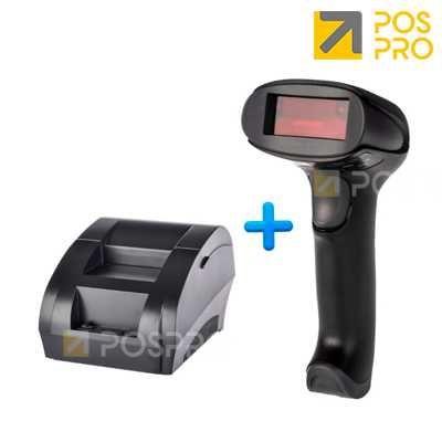 Комплект: Термопринтер чеков + Сканер штрих-кодов