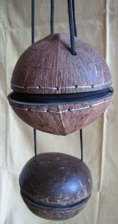 2 Bolse-nuci din lemn exotic (Brazilia - Manau) hand made
