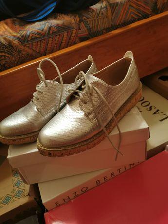 Pantofi fără toc piele