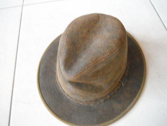 Мъжка шапка - естествена кожа