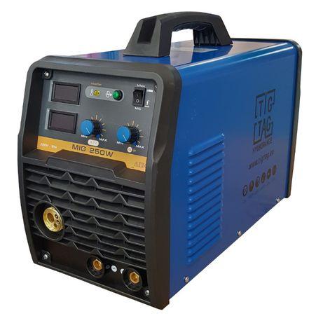 Телоподаващ и електрожен апарат MIG250W с 3метра евро шланг
