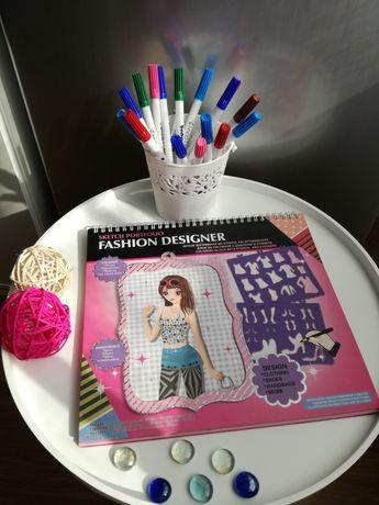 (НОВ!) Блок за рисуване с шаблони и стикери + подарък