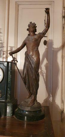 Statueta bronz masiv circa anii 1870 autentic 80 cm