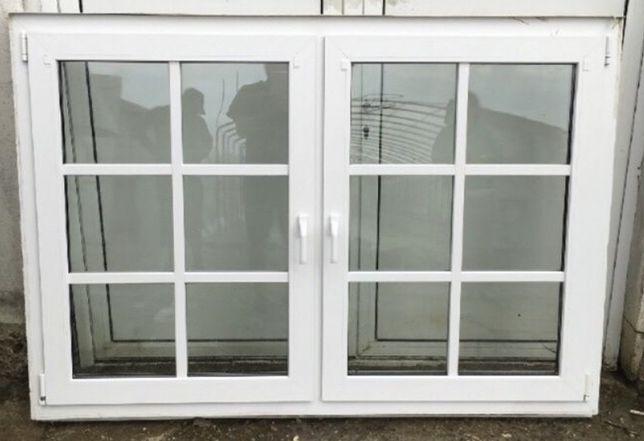 Fereastra casa firma PVC geam termopan dublu H 156 x L 223. Buc 2