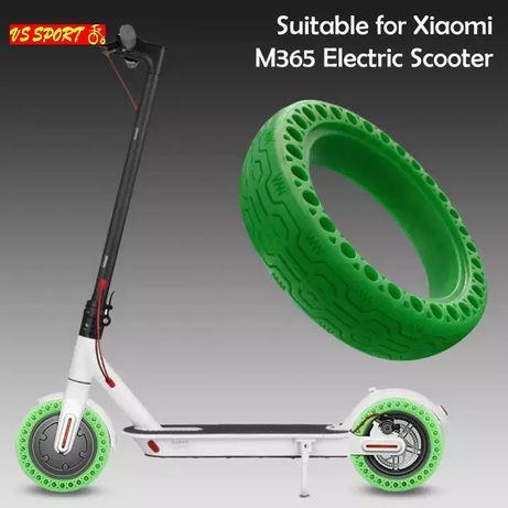 Безкамерна гума за Xiaomi M365 8.5 зелена • Твърда гума 8.5 M365