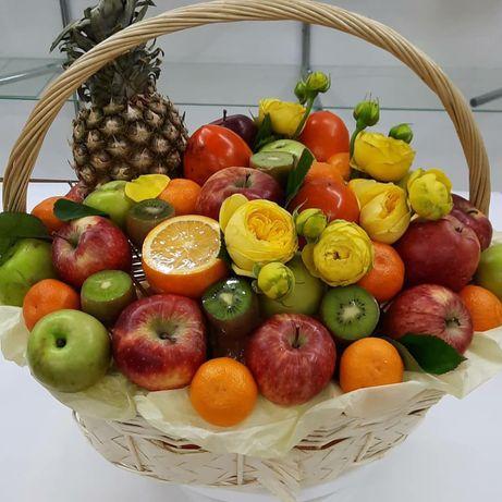 Сладкий букет из сухофруктов, мужские, детские подарки, фруктовый