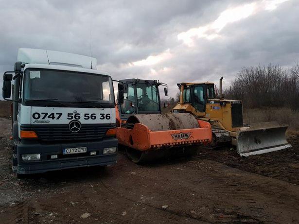 Închiriez Buldozer Excavator Compactor Evacuez Moloz
