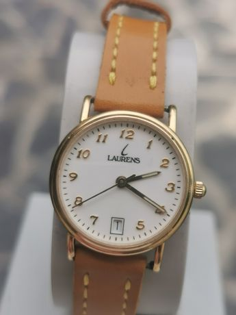 Ceas LAURENS Calendar - Aur solid 18k - 25 mm - Quartz - Dama!