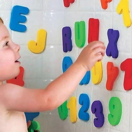 Буквы и цифры в ванную на английском