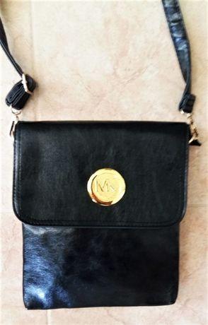 Нова мъжка черна чанта от еко кожа