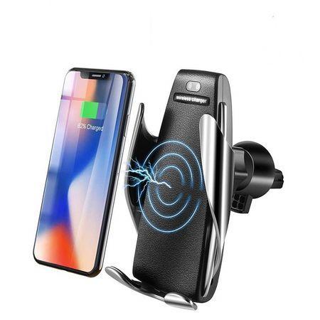 Suport telefon auto S5 incarcare wireless senzor inchidere si deschide