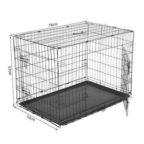 91/67/61 см (Д/В/Ш) клетка за кучета - НОВИ!