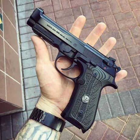 Pistol Airsoft/Jocuri/Tinta/Tir 4,4 jouli Co2 Semi-METAL ca 6.08mm