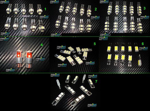 LED -uri auto CANBUS T10 / w5w / w3w SMD & CREE & COB 12v