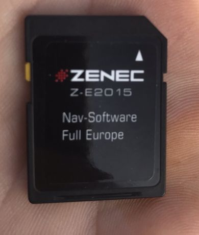 Card original Zenec navigatie VW Full Europa 2015