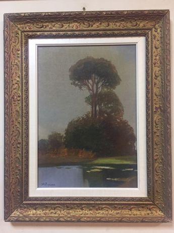 Tablou autentic,pictura in ulei-Stefan Popescu(1872-1948)!