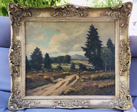 Tablou pictura ulei/carton semnat H.Grütner.78/68