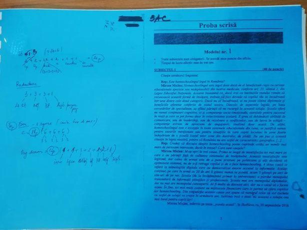 Modele de subiecte de bacalaureat romana+ sugestii de rezolvare