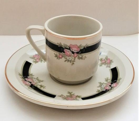 Сервиз за кафе 6 чашки с чинийки, керамика