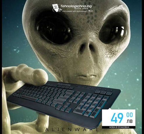 НОВА Геймърска Клавиатура Alienware SK-8165 гаранция Tehnologichno.bg