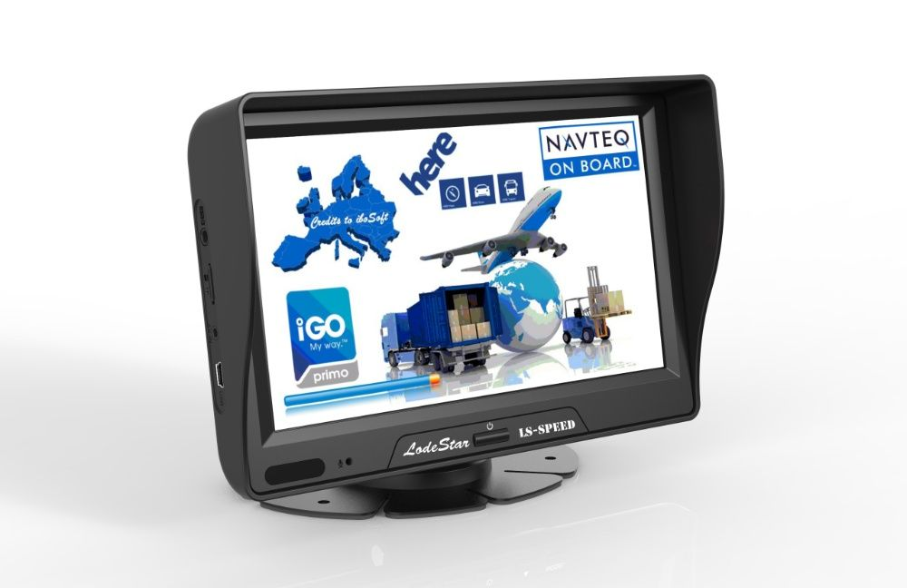 "Navigator GPS 7""HD Harti iGO Primo toata Europa 2021 pentru:TIR/Camion"