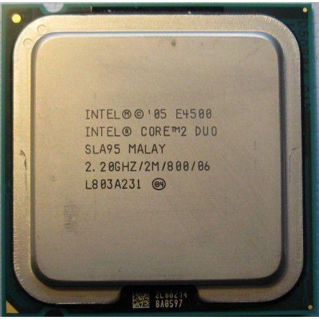 Intel Core 2 Duo E4500, 2.20GHz, ядер: 2/2T, LGA775, oem, 5-штук б/у.