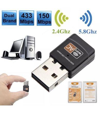 Adaptor Wi-Fi 600 sau 1300 Dual Band 2.4G/5GHz Wireless Lan USB PC