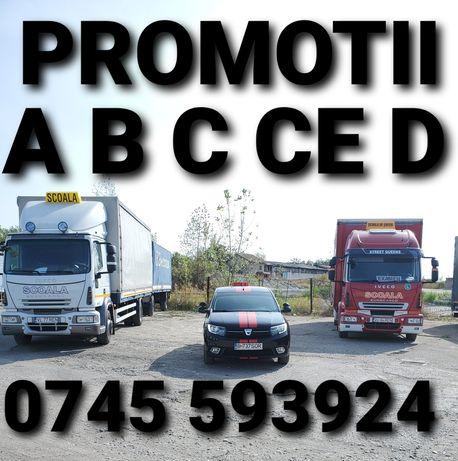 Instructor auto valcea C CE =800;B 700 ;D 900 promotie