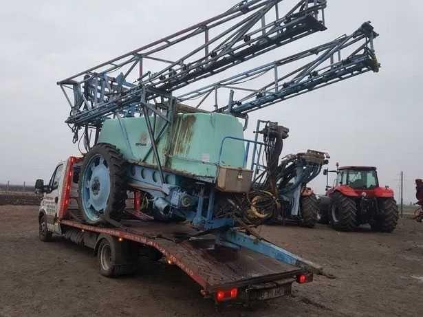 Transport utilaje agricole,presa de baloti,masina de erbicidat,plug