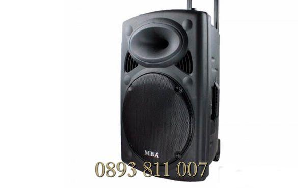 1000в 12-инча бас- Мощна активна тонколона Караоке с безжичен микрофон