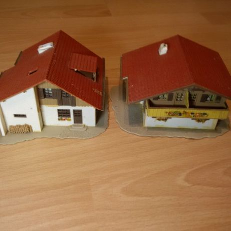 2 case alpine, scara HO - VOLLMER - Diorama - Trenulet Electric