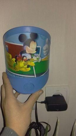 Lampa de veghe Mickey Mouse ,,Good night,, ptr priza sau cu bateri