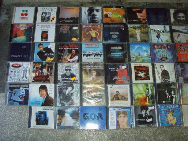 CD audio cu diferite genuri muzicale si artisti, setul unu