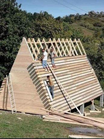 Vând cabană din lemn și confecționez pe dimensiuni