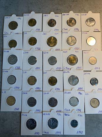 Lot monede lire Italia/ San.Marino UNC