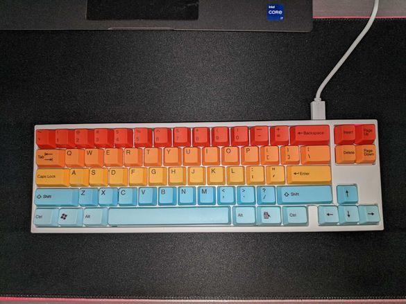 Механична геймърска клавиатура Ducky x Varmillo Miya Pro Rainbow RGB