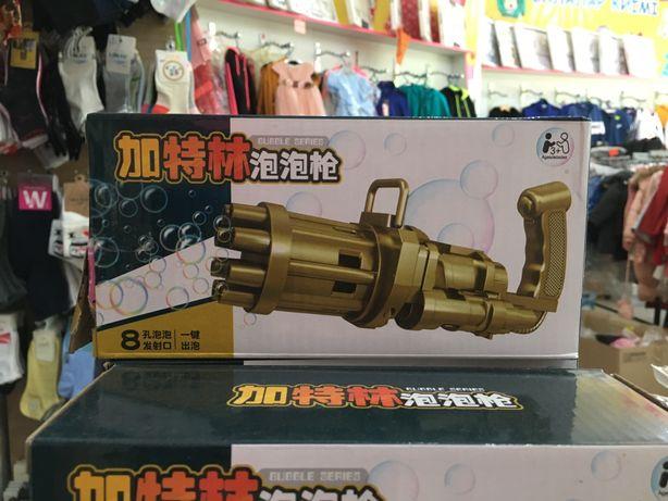 Миниган minigun bubble gun blaster игрушка пузыремёт