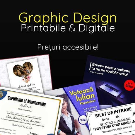 Designer grafic printabile & digitale